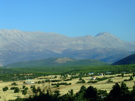 Aegean Mountains in Turkey